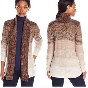 Jason Maxwell brown and cream ombre cardigan